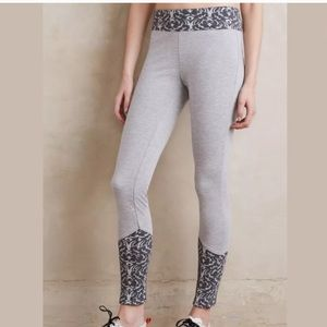 Anthropologie Jacquard-Trimmed Leggings motif XS
